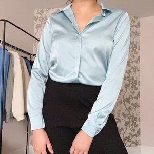 Turquoise Silk Shirt
